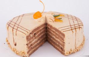 торт, торт на заказ Карамельный